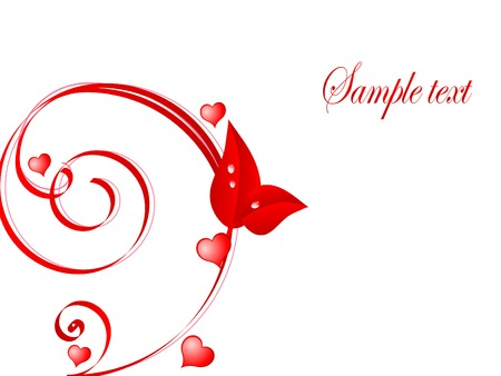 Red abstract valentine day background Stock Vector - 4297407