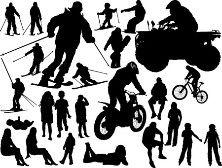 Silhouettes of the people - vector collection Vector