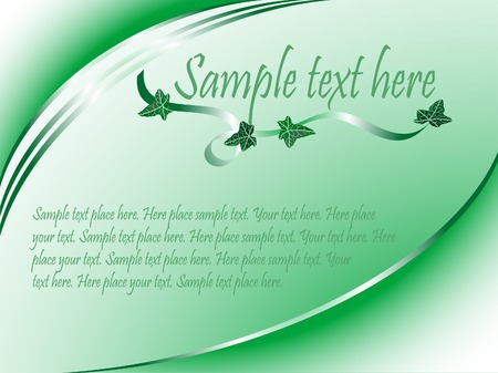Abstract green background with ivy leaves Vector