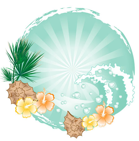 Summer beach in frame - vector illustration Vector