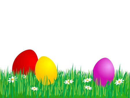 Easter eggs in the grass Stock Vector - 4593277