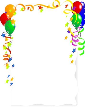 serpentinas: Parte de fondo con coloridos globos
