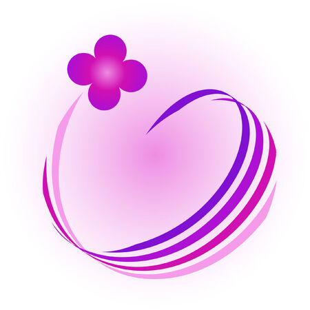 Abstract violet flower - vector illustration Stock Vector - 4894437