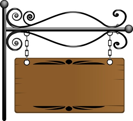 Wooden signboard for your text Stock Vector - 4958056