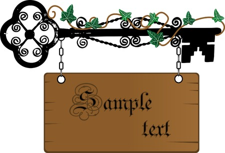 Wooden signboard for your text Vector