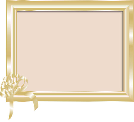 Golden frame for your photo or text Vector