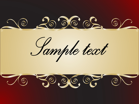 Abstract golden frame for your text Stock Vector - 5015726