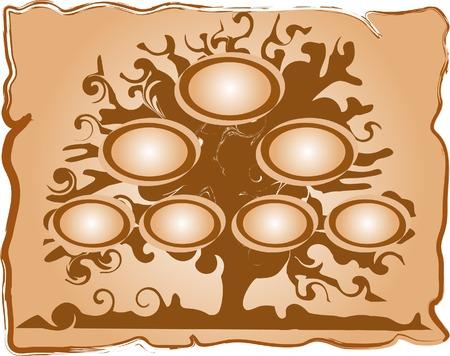 genealogical: Ilustraci�n vectorial de �rbol geneal�gico Vectores