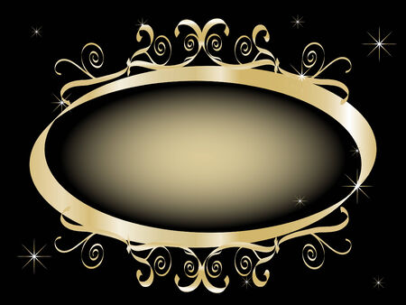 Abstract golden frame for your text Vector