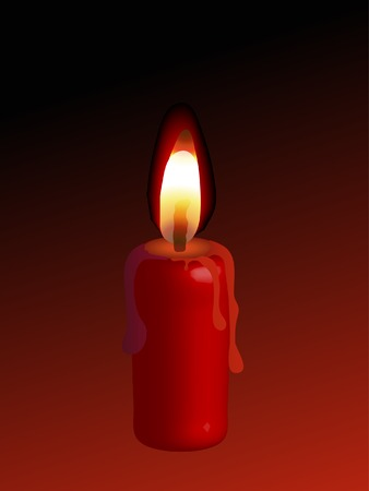 candlestand: Vector red candle behind the black background
