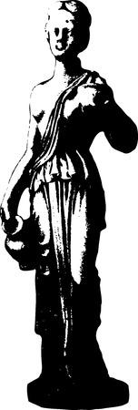 afrodite: Vector illustration di Afrodite - dea dell'amore e della bellezza