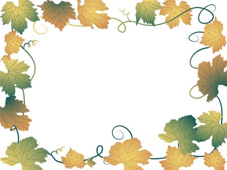 Vector frame from grapevine leaves Stock Vector - 5446677