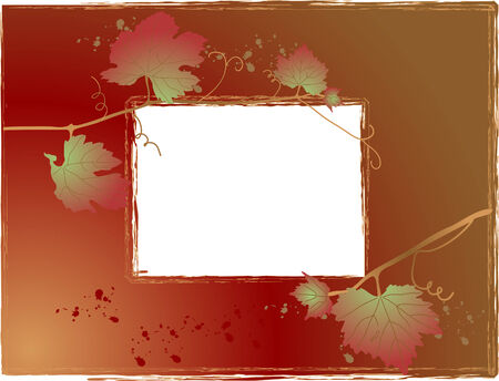Autumn frame with grapevine leaves Stock Vector - 5446661