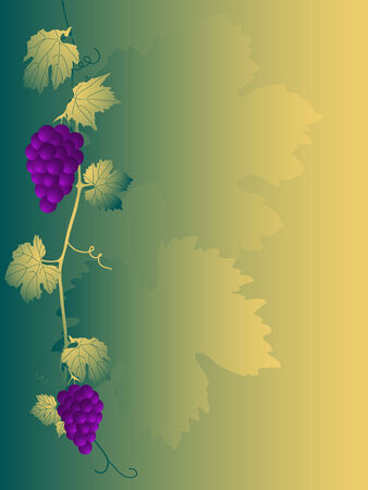 grapevine: Autumn frame with grapevine leaves Illustration