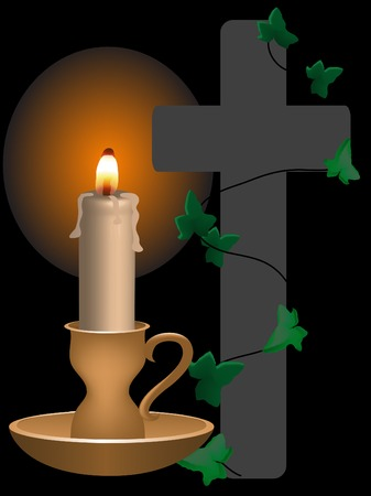 miserável: Golden candle and the cross