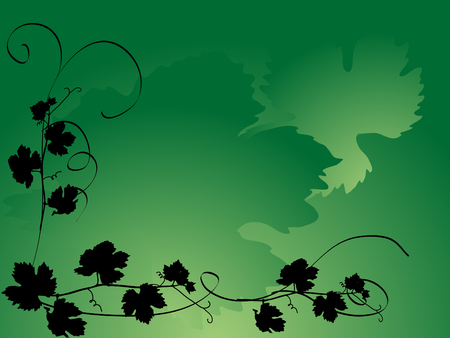 Background with the grapevine leaves Stock Vector - 5472581