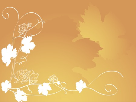 Background with the grapevine leaves Vector