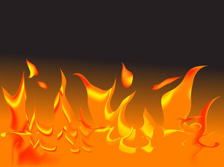 igniter: Vector fire on black background Illustration