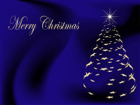 Fondo azul abstracto, con árbol de Navidad Foto de archivo - 5511204