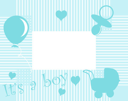 Baby boy arrival announcement card Stock Vector - 5539224