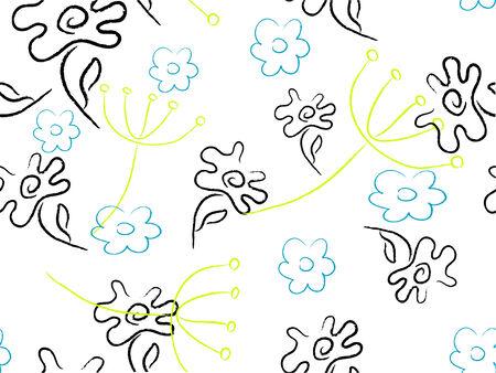 margriet: Floral retro pattern - vector background