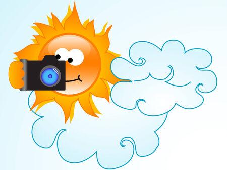 reflex camera: Holiday sun with reflex camera