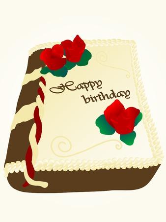 dedication: Book cake with happy birthday dedication