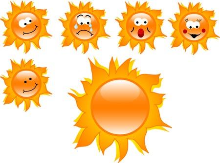 naranja caricatura: Soles de dibujos animados Orange - ilustraci�n vectorial