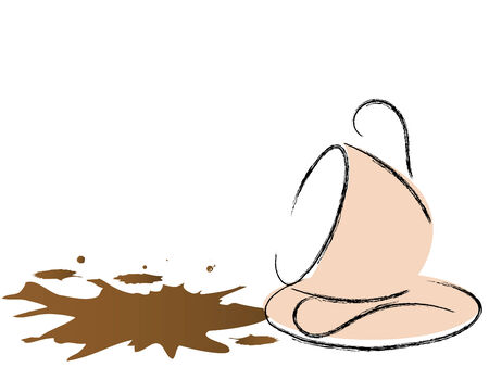 coffee spill: Abstract spill coffee - vector illustration Illustration