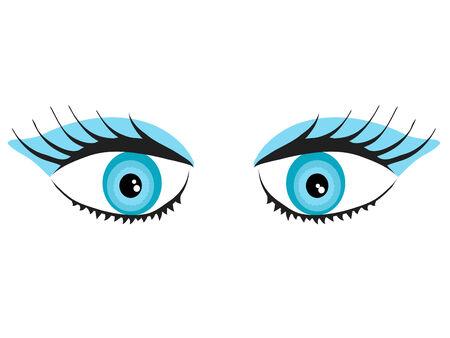 Beauty blue eyes - vector illustration
