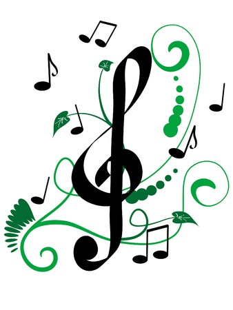 Abstract musical design - vector illustration Vector