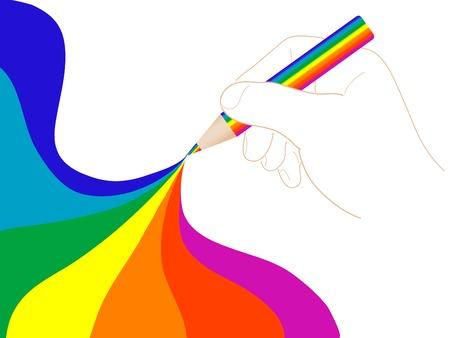 Abstract rainbow design - vector illustration Vector