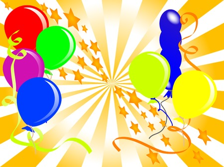 Party background with balloons - vector illustration Stock Vector - 5588105