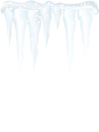 Winter background with icicles - vector illustration Stock Vector - 5588107