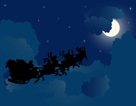 stormcloud: Christmas night background - vector illustration