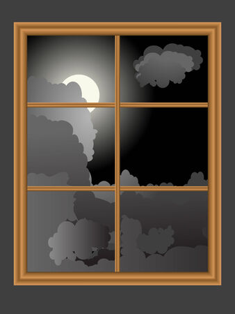 window view: View from window - vector illustration