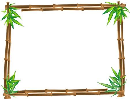 Beautiful brown bamboo- vector illustration