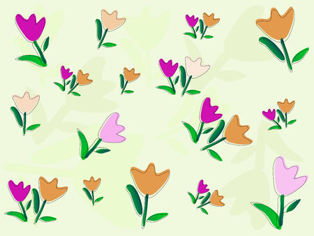 Beautiful pattern with flowers - vector illustration Stock Vector - 5617584