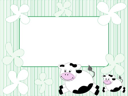 Frame with cows - vector illustration Vector