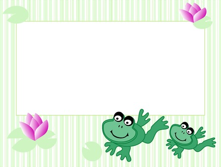 Frame with frogs - vector illustration Vector
