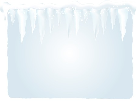 Winter background with icicles - vector illustration Vector