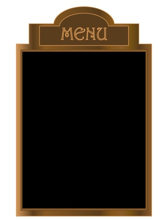 tearoom: Black menu board Illustration
