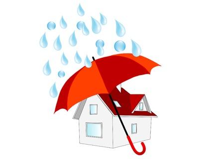 Home under umbrella Vector