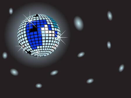 Abstract disco ball - vector illustration Illustration
