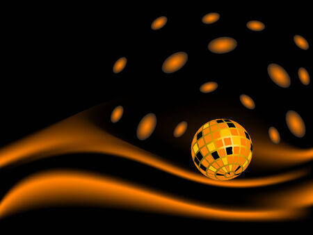 luminary: Abstract disco ball - vector illustration Illustration
