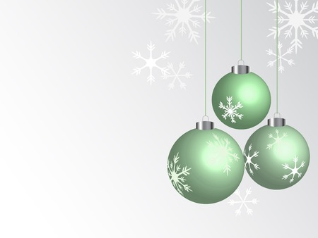 Green christmas balls - vector illustration Stock Vector - 5719712