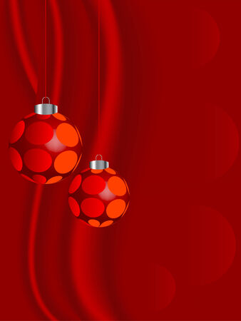 luminary: Red christmas balls - vector illustration