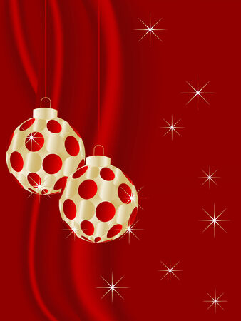 luminary: Golden christmas balls - vector illustration