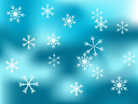 luminary: Christmas snowy background - vector illustration