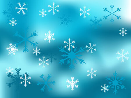 Christmas snowy background - vector illustration Stock Vector - 5719705